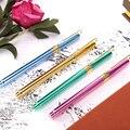 1-piece colorido caneta de metal com capuz nib 0.38mm extra fino nib canetas de tinta recarregáveis para homens feminino escola material de escritório