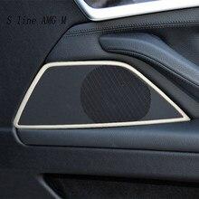 Bandes de décoration de porte de haut-parleur stéréo, garniture autocollante pour BMW série 5 F10 F18, accessoires d'intérieur auto