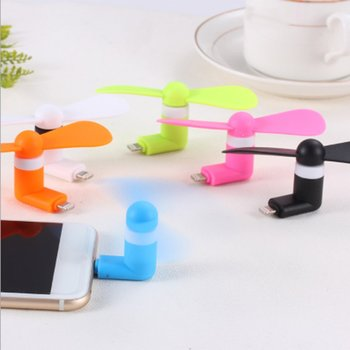 For Android Portable Cool Micro USB Fan Mobile Phone USB Fans Low Voice For Android Mobile Phone USB Power Supply image