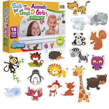 animal bath toys fun foam animals with toy storage bag baby Childrens educational