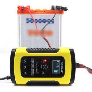Image 1 - 12V 5A LCD Car Motorcycle Pulse Repair Battery Charger Lead Acid Storage Charger For Tesla Model 3 Bmw E46 E90 Ford Focus 2 Audi