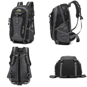 Image 2 - 40L étanche USB charge escalade unisexe mâle voyage hommes sac à dos hommes Sports de plein air Camping randonnée sac à dos sac décole Pack