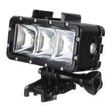 300LM 2.8 واط 30 متر تحت الماء إضاءة مقاومة للماء الفيديو الضوئي مصباح ل GoPro / SJCAM