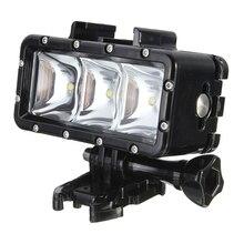 300LM 2.8W 30M sous marine LED étanche lampe de lumière vidéo pour GoPro / SJCAM