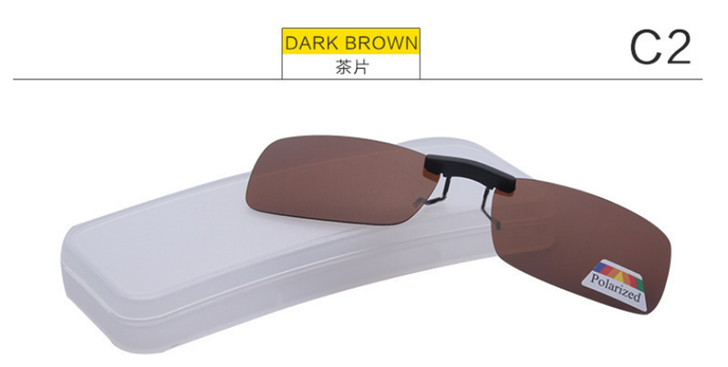 Unisex polarize güneş gözlüğü üzerinde klip yakın görüşlü sürüş gece görüş Lens Anti-UVA Anti-UVB bisiklet sürme güneş gözlüğü klip
