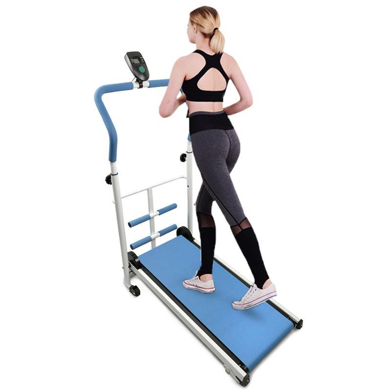 Max Weight 100Kg Fitness Treadmill Mini Folding Treadmill 108*17*56 Cm Adjustable Manual Mechanical Treadmill For Home Use HWC