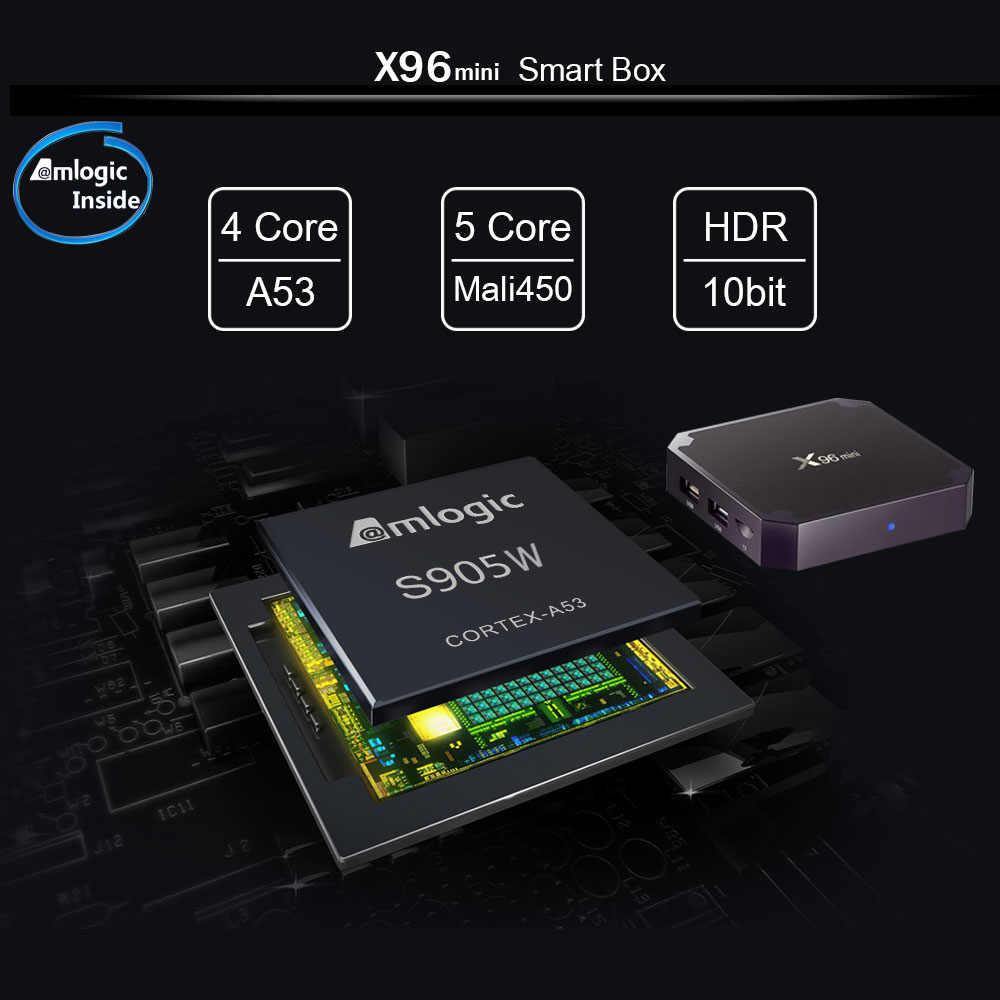 X96 mini tv kutusu akıllı tv kutusu Android 7.1 2GB 16GB eMMC S905W dört çekirdekli 2.4G WIFI kutusu tv pk h96 x96 mini tv kutusu akıllı kutu