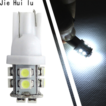 1Pcs Car Led Light Ba9s T10 10smd W5W Led Light 168 194 1210 3528 SMD T10 10 LED Clearance Bulb Lamp White Car Styling 12V image