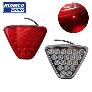 Universa Mugen JDMl LED Achterrem Mistlampen Vierkante Pilot Light F1 Style Rear lip Bumper Lamp Voor Honda