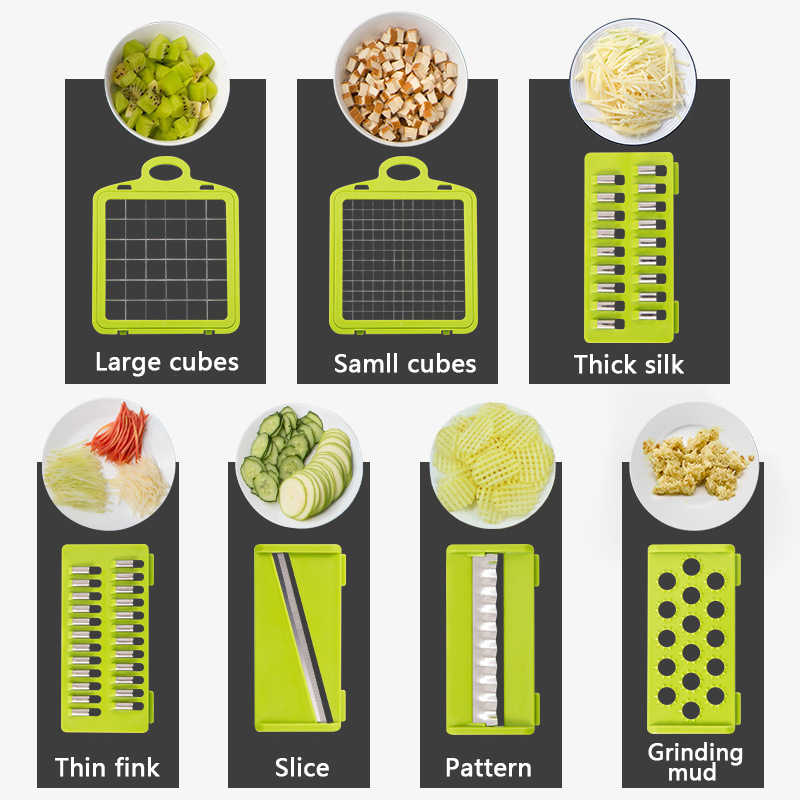 Konco Multi-funktionale Gemüse Obst Werkzeug Kartoffel Masher ricer Gemüse Mandoline slicer Peeler Cutter Karotten Shredder Reibe