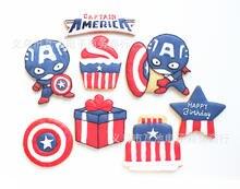 Форма для торта с мастикой captain america набор из 8 предметов