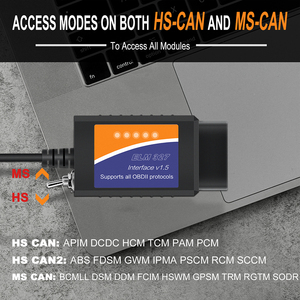 Image 4 - ELM 327 V1.5 USB ELM327 Switch per Ford Forscan ELMconfig lettore di codice OBD2 Scanner strumento diagnostico auto HS CAN MS CAN
