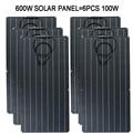 100 Вт 200 Вт 300 Вт 400 Вт 500 Вт 600 Вт Гибкая солнечная панель 32 шт. 3,3 Вт монокристаллическая солнечная батарея 22% эффективность зарядки фотоэлектр...