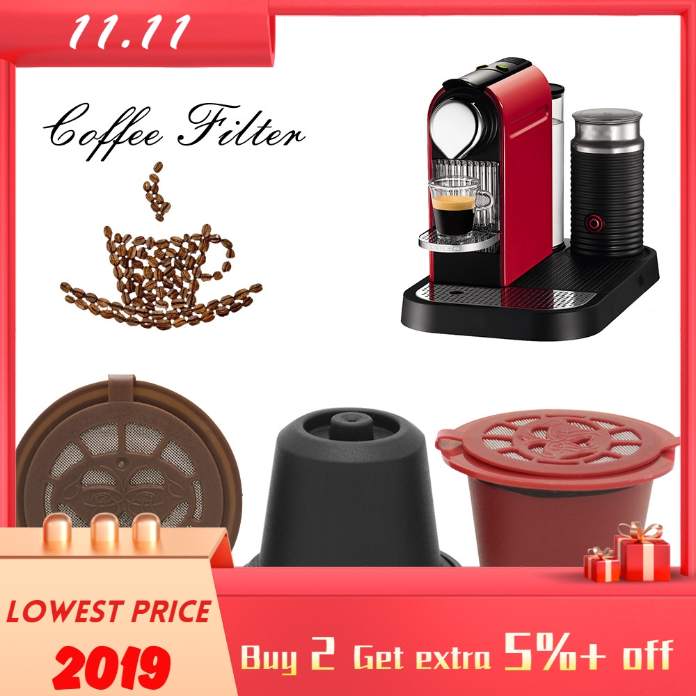 Refillable Reusable Coffee Capsules Pods For Nespresso Machines Filter