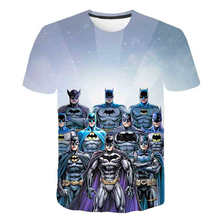 Baby 2019 Batman 3D Print Clothes Boy Cartoon T-Shirt Girl Summer T Shirt Children Short Sleeve Tee Tops For Kids Costume 4T-14T цена 2017