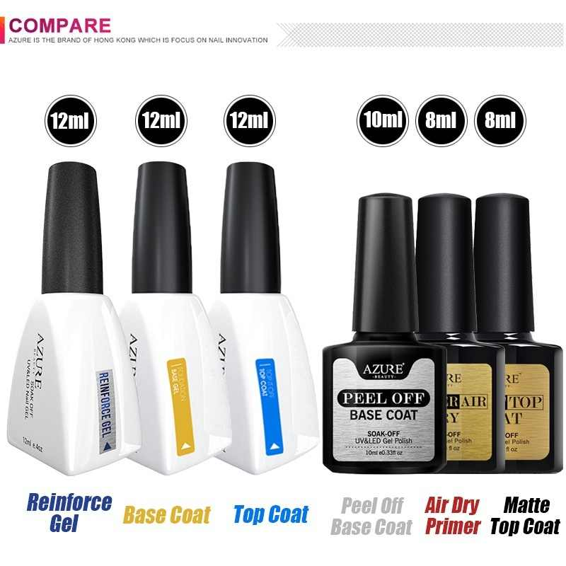 Azure Beauty 2019 Baru Kedatangan Primer Gel Varnish Rendam Off UV LED Gel Nail Polish Base Coat Tidak Menghapus Top warna Gel Polish