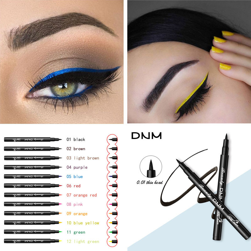 Color Matte Liquid Eyeliner Colorful Durable Anti-stun Natural Black Blue Waterproof Pigment Eyebrow Pencil TSLM2