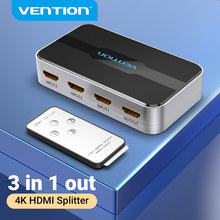 Vention Switcher HDMI 4K/60Hz 3 Input 1 Output HDMI 2.0 Switch Adapter per Smart Box TV proiettore PS3/4 3 × 1 HDMI 2.0 Splitter