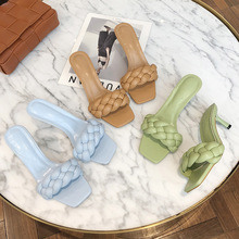Woman Sandals Shoes High Heels Summer Weave Sandals