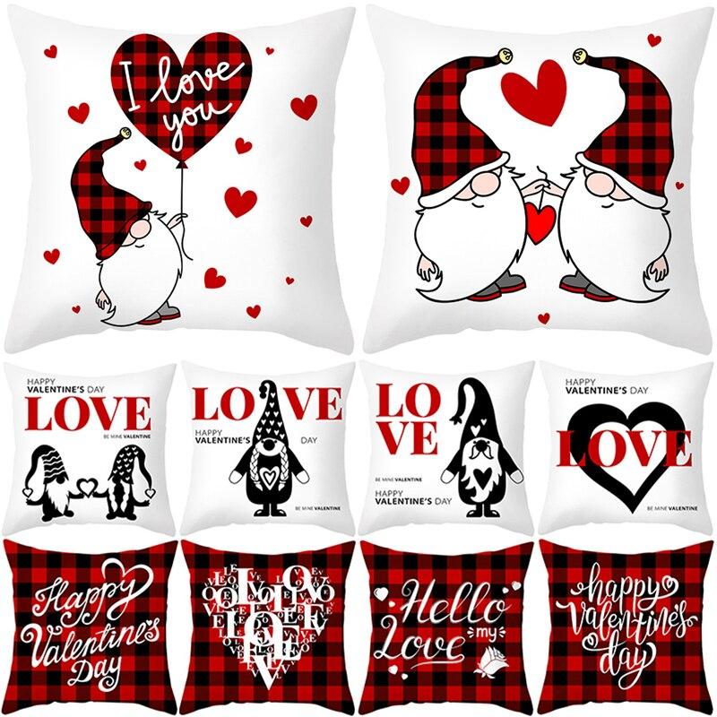 PATIMATE sans visage poupée housse de coussin Valentine amour mariage fête décoration rose coeur mariage taies doreiller cadeau saint valentin