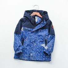 مقاوم للماء ربيع الخريف معطف الطفل القطن عادية هندسية طباعة الطفل الأولاد جاكيتات الأطفال ملابس خارجية الاطفال وتتسابق ل 90 160 سنتيمتر