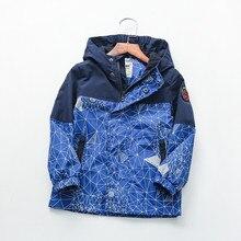 Waterdichte Lente Herfst Casual Katoen Kind Jas Geometrische Print Baby Jongens Jassen Kinderen Bovenkleding Kids Outfits Voor 90 160cm
