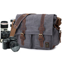CamDress Luxury Cowboy Single Shoulder Satchel Waterproof Canvas camera Bags Inner Tank SLR Camera Messenger foto bag