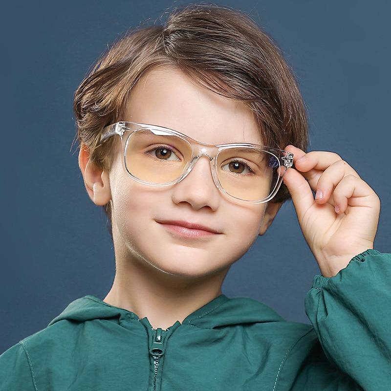 Children's Anti-blue Light Glasses Children's Anti-blue Light Flat Glasses Frame TR90 Material Rice Staring Glasses