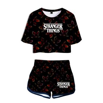 Stranger Things Set + krótkie spodnie 3D Print 2020 Hot TV Series Stranger Things O-neck słodkie letnie kobiety sezon 3 dwuczęściowy tanie i dobre opinie aikooki POLIESTER tops Z KRÓTKIM RĘKAWEM SHORT REGULAR Sukno Drukuj Stranger Things Two Piece Set + Short Pants WOMEN