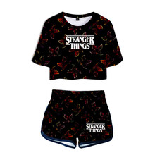Stranger Things Set + Short Pants 3D Print 2020 Hot TV Series Stranger Things O-neck Sweet Summer Women Season 3 Two Piece