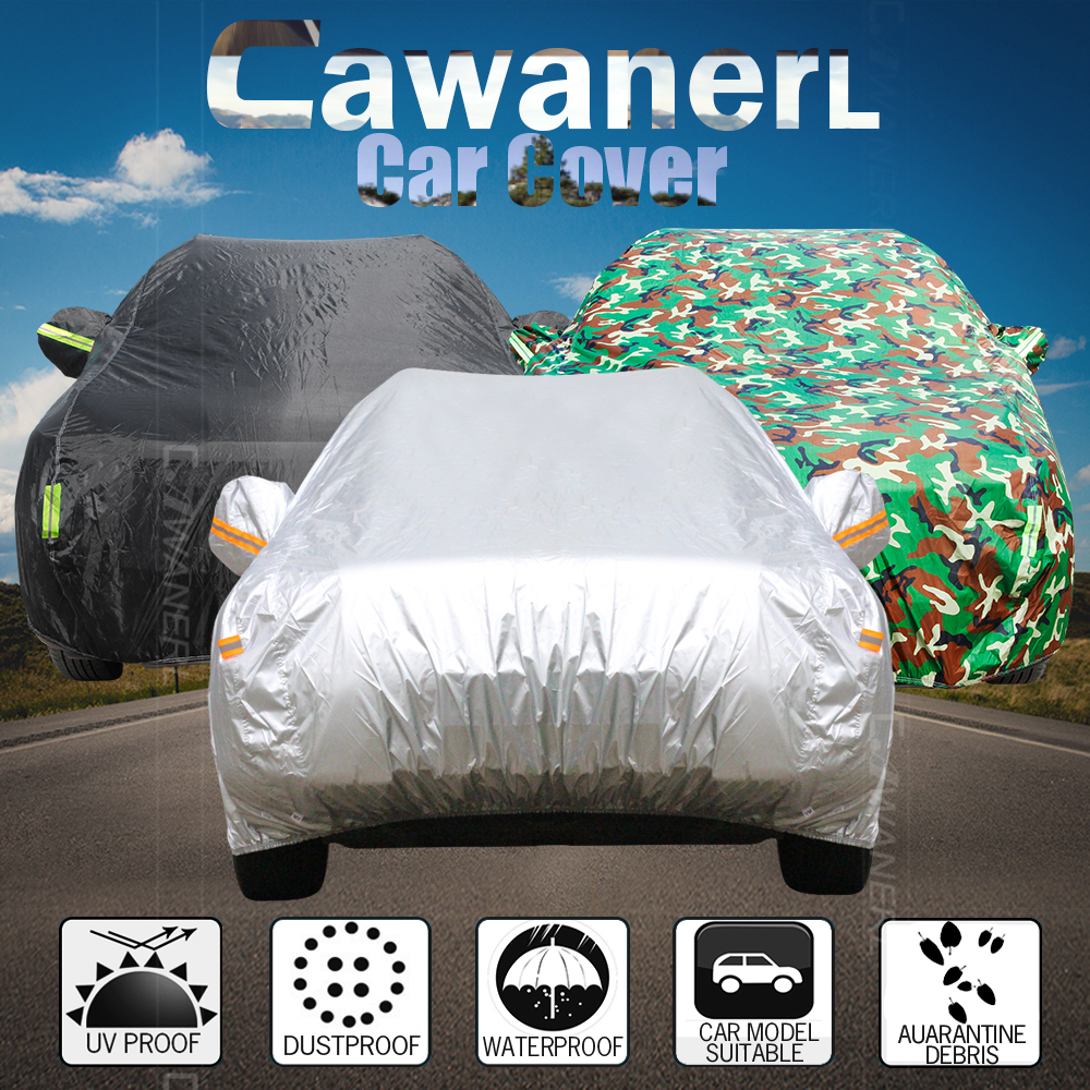 Car Body Full Cover Coat Protector Scratch Dirty Sun Heat Rain Snow Water-Proof