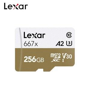 Image 1 - بطاقة ذاكرة ليكسر احترافية TF 667x256GB SDXC V30 A2 U3 فئة 10 ماكس 100 برميل/الثانية بطاقة ميكرو SD مع محول
