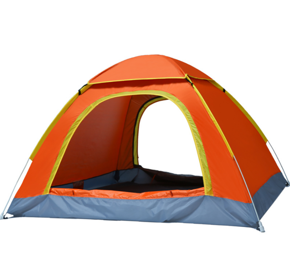 Backpacking Camping Tent, Lightweight 3-4 Persons Tent Waterproof Sun-proof Portable Aluminum Poles Travel Tents[orange Color]