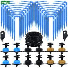 KESLA 2L 4L 8L 4-Way kroplownik do nawadniania nawadniania kropelkowego System nawadniania nadajnik kroplownik zraszacz 1 8 #8221 3 5mm wąż szklarni narzędzia tanie tanio CN (pochodzenie) KSL01-KIT016 Z tworzywa sztucznego Podlewanie zestawy