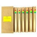 Heißer 6 teile/paket Eco freundliche produkte gemischt farbe bambus zahnbürste Weiche Faser Oral Reinigung Zähne Pflege bambus Holz Griff
