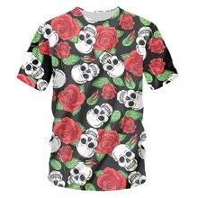 Ifpd европейский размер роза цветок 3d принт футболка в стиле