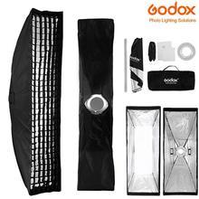 BEESCLOVER Godox 22x90 см прямоугольник Bowens крепление полосы софтбокс+ сетка для студийной стробоскопической вспышки софтбокс Сетка кольцо адаптер r60