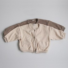 Jackets Outerwear Coat Cardigans Newborn-Baby Baby-Girl Autumn Cotton for 6M-24M Tops