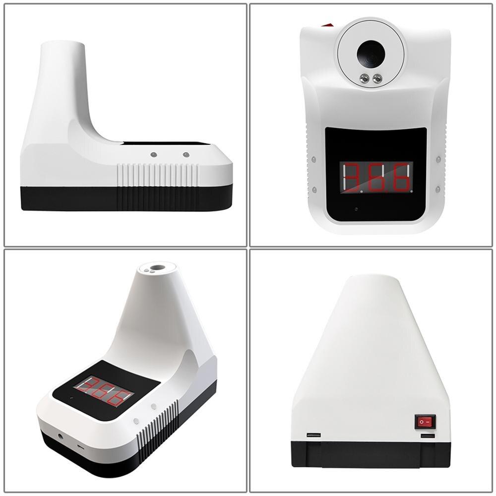 K3 manos libres f Digital termómetro infrarrojo no contacto frente termómetro de pistola para cuerpo pantalla LCD Oficina/Metro/uso en el hogar - 3