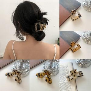 Ruoshui Woman Leopard Style Hair Claws Hair Accessories Hairpins Girls Crab Hair Clips Headwear Women Ornament Barrette Hairgrip