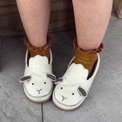 Kinderen Leren Schoenen Baby Handgemaakte Lederen Schoenen Donsje Deense Koeienhuid Cartoon Dier Lederen Schoenen Meisje Schoenen