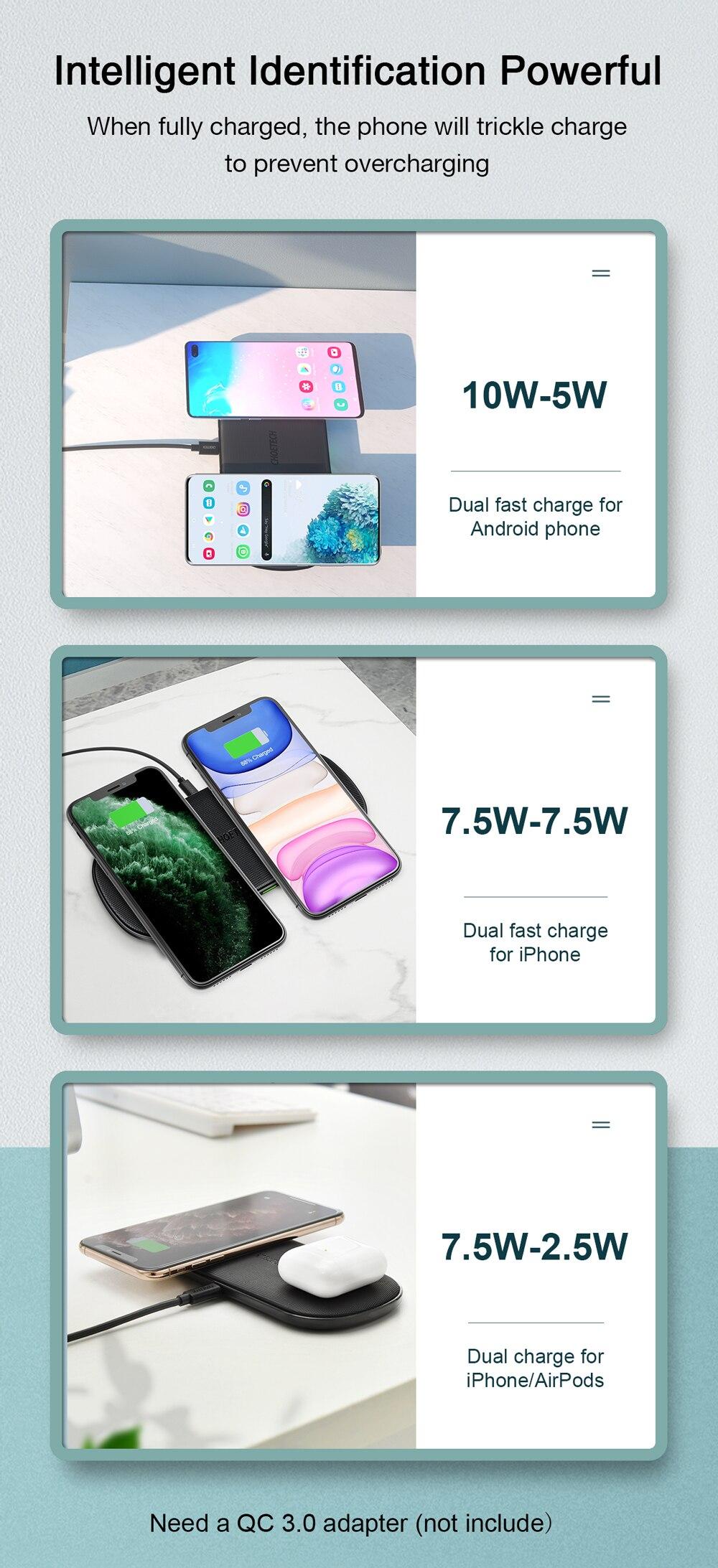 18w 5 bobinas para iphone12 x max