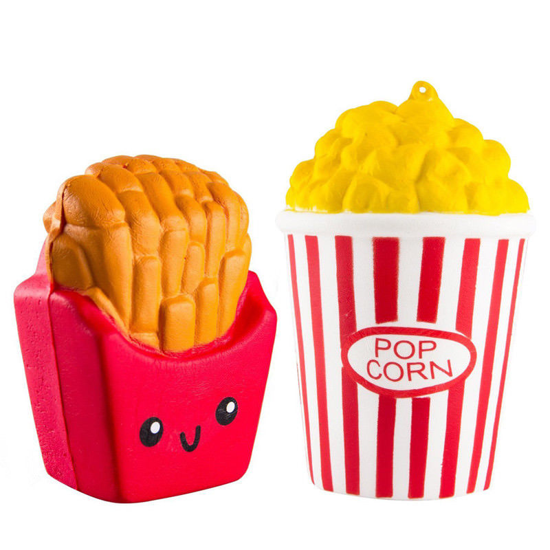 Cute Kawaii Mini French Fries Squishy Colorful Skuishy Toy Slow Rising Soft Scented Kid Fun Gift Squishies Toys