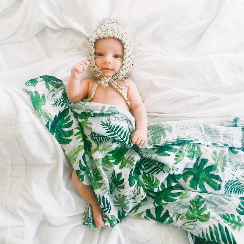 Muslin Cotton Baby Swaddles Soft Newborn Blankets Bath Gauze Infant Wrap Sleepsack Stroller Cover Play Mat Baby Deken