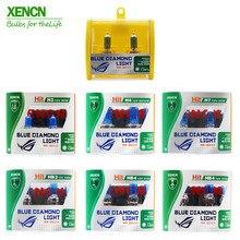 XENCN 12V H1 H3 H4 H7 H8 H9 H10 H11 H13 H15 H16 880 881 9005 9006 9012 5300K Blue Diamond, для использования в светильник автомобилей головной светильник галогенных ламп, 2 шт