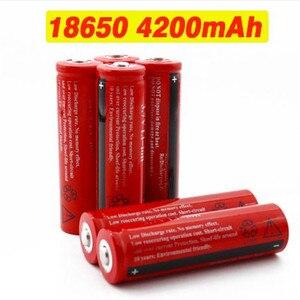 100% new original 18650 Rechargable Battery 18650 4200 mAh 3.7 V Battery for LED Lantern torch