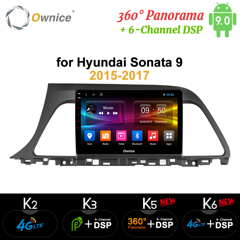 Ownice Octa Core Android 9.0 Car DVD Player for Hyundai Sonata Gen 9 LF 2015 2016 2017 k3 k5 k6 head units 360 Panorama SPDIF image
