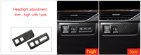For Cadillac XT4 carbon fiber Car interior Headlight adjustment switch trim high with 1pc