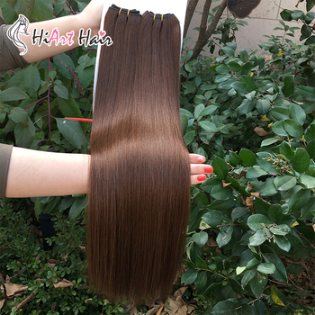 цена на HiArt 100g Machine Made Weft Hair Extensions Human Remy Hair Factory Super Double Drawn Weft Hair Russian 18-22