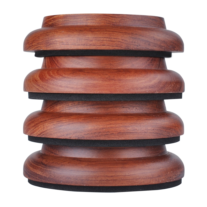 4Pcs Upright Piano Caster Cups,Solid Wood Piano Caster Piano Leg Floor Protectors With Non-Slip Anti-Noise Foam For Hardwood Flo
